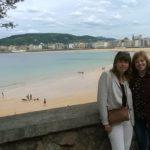Con Ana Bizarro - San Sebastián